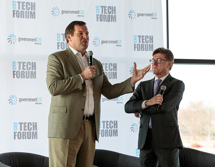 NVIDIA's Anthony Robbins speaks at the CXO Tech Forum.