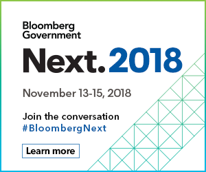 An ad from Bloomberg inviting to their 2018 event.