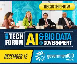Several speakers on stage at GovernmentCIO event