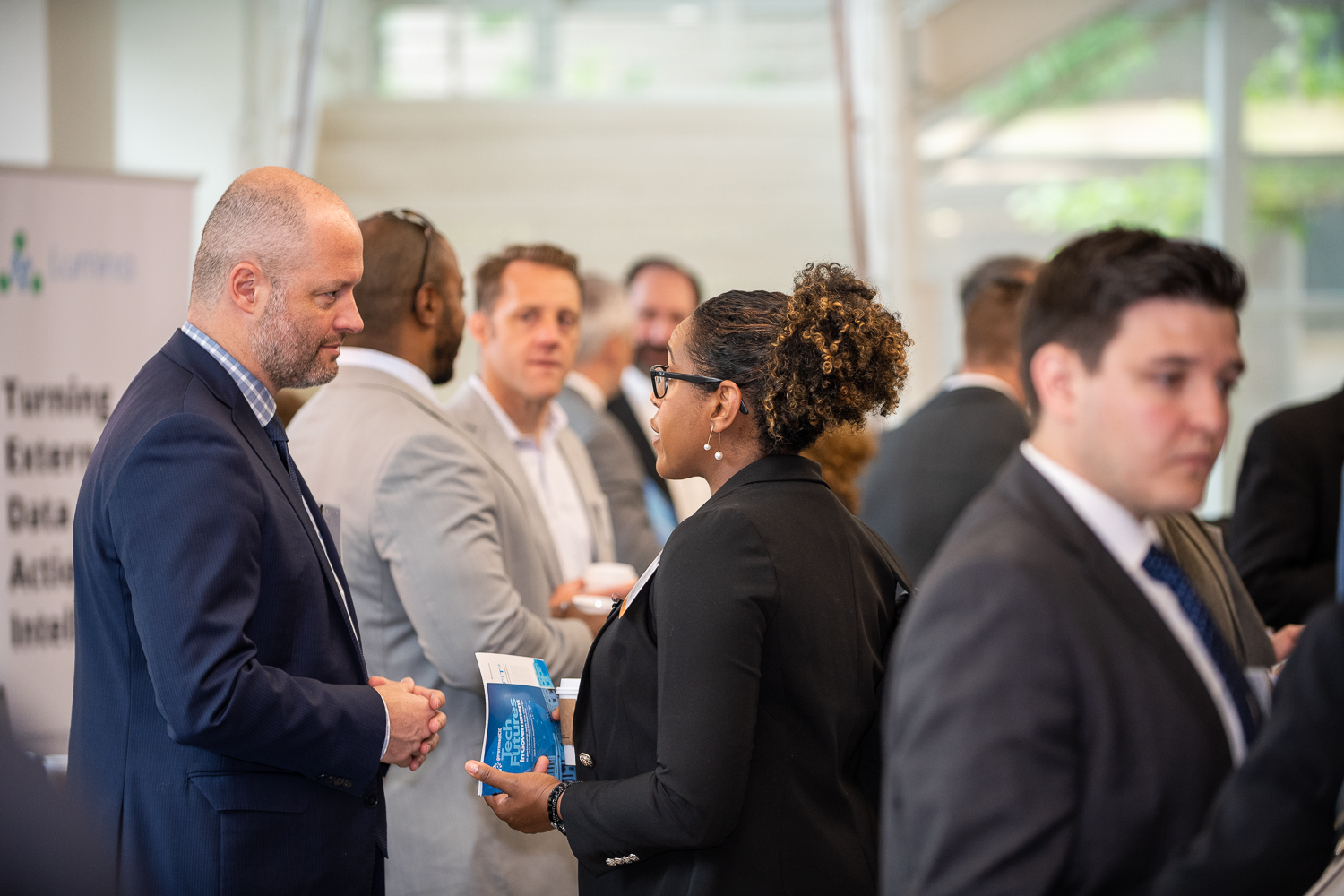 Networking at Tech Futures in Government Event