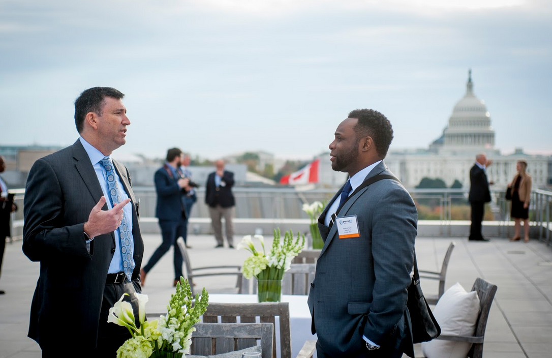 The US Capitol provided an elegant backdrop to the event.