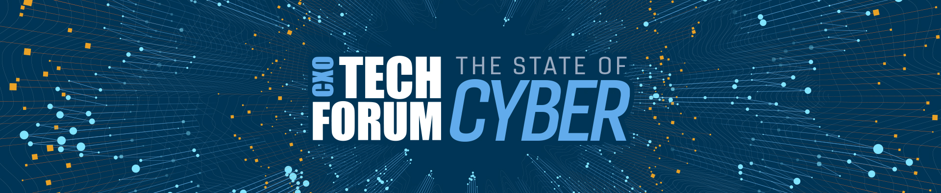 State of Cyber title with digital etchings in the background