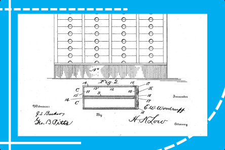USPTO furniture patent illustration