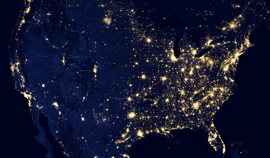 USA seen from orbit, courtesy of NASA