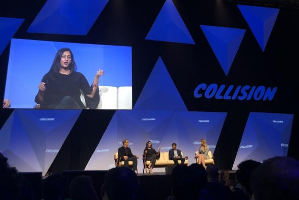 panelists talk at Collision conference