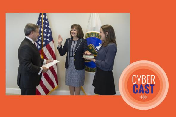 Department of Energy's first Assistant Secretary for Cybersecurity being sworn in