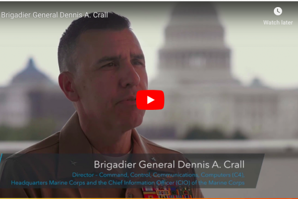 Screenshot of Dennis A. Crall's video interview