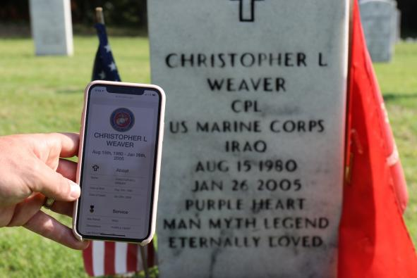 VA Cemetery Cleanup Effort Features Memorial App to Honor Veterans