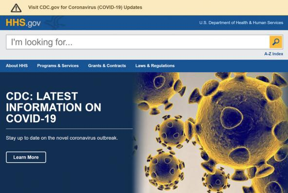 HHS Launches New Homepage Redesign, Highlights Pandemic Efforts